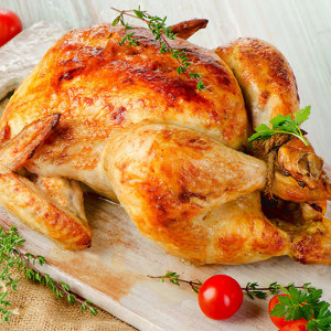 chicken whole roasted